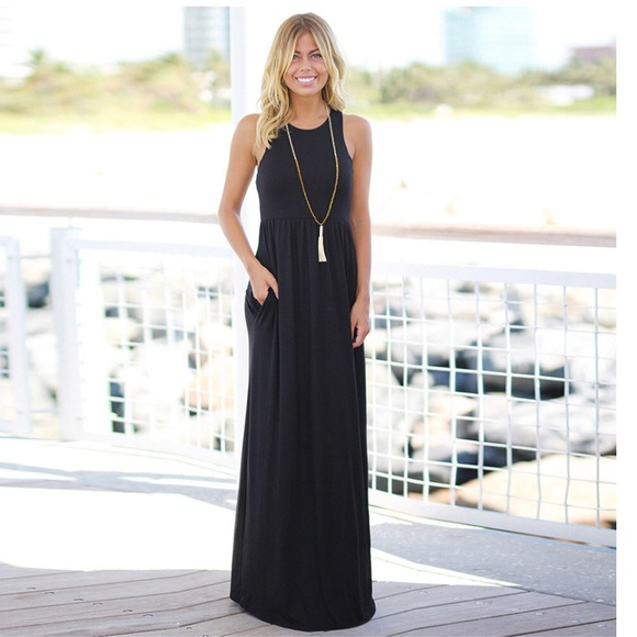 Black Tank Top Maxi Dress